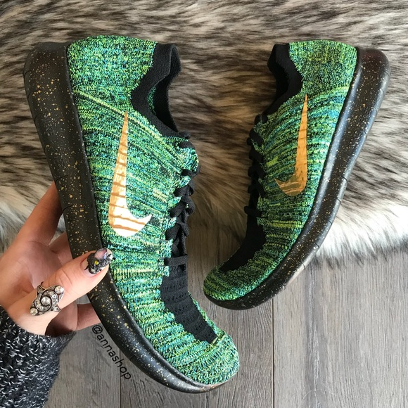 Nike Shoes Hpnwt Id Free Rn Flyknit Custom Oreo Poshmark
